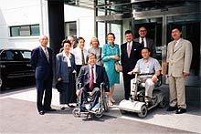 with ginny thornburgh attending sixth annual conference on rehabilitation of people with disabilities, korea 1998