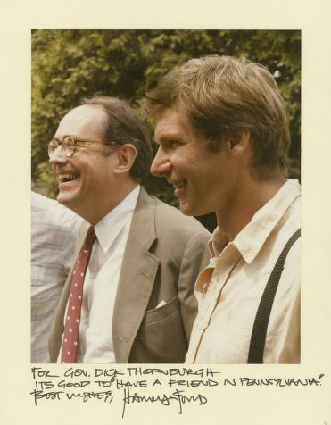 Thornburgh and Harrison Ford